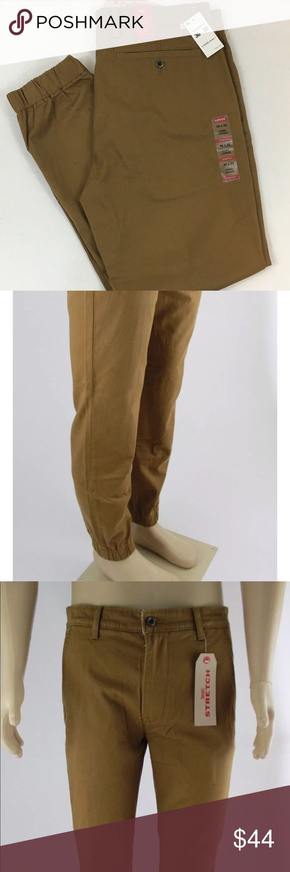 Men's Levi's Chino Joggers Caraway/Carmel brown Stretch chino Joggers by Levi's 36x32 Levi's Pants Chinos & Khakis