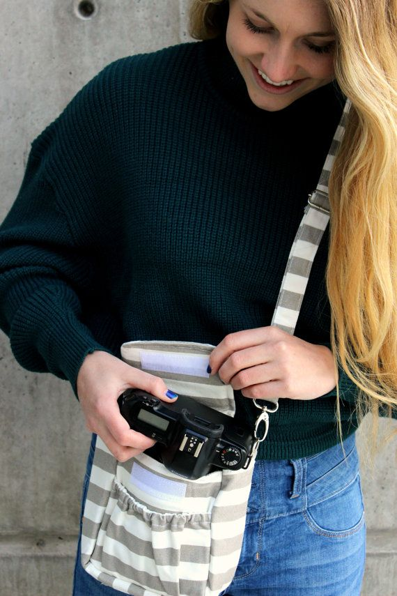 Small Padded Camera Bag  Photography  Camera by JustGetPampered