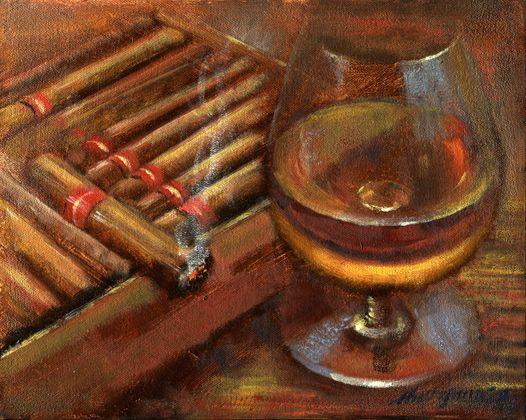 "Hall Groat Sr. ""Whiskey with Cigar Box"""