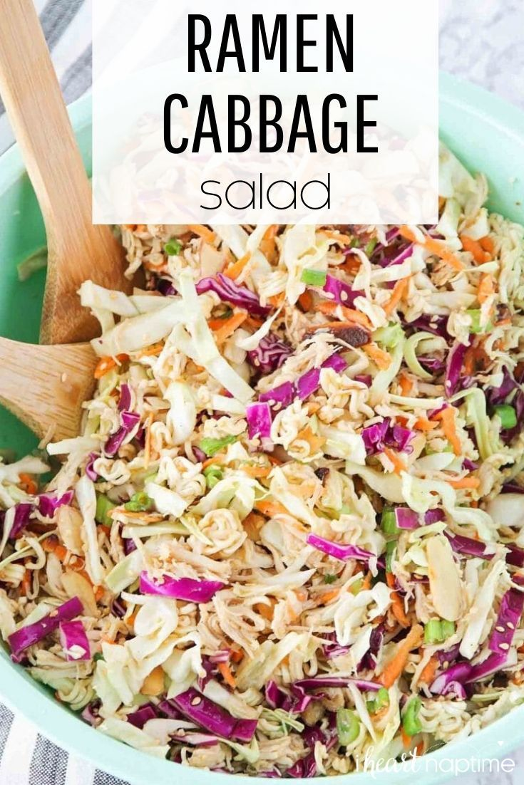 Ramen Noodle Cabbage Salad With Chicken Recipe