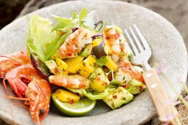 This prawn salad showcases Australia's amazing seafood.