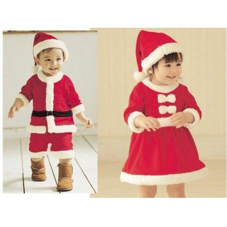 Kız çocukları için Noel Baba kostümü