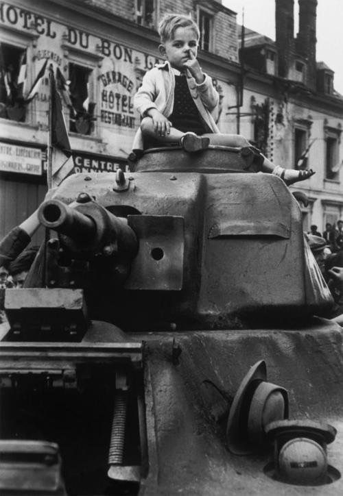 'Tank Boy' In the liberation of Paris (1944), Chartres, by Robert Capa