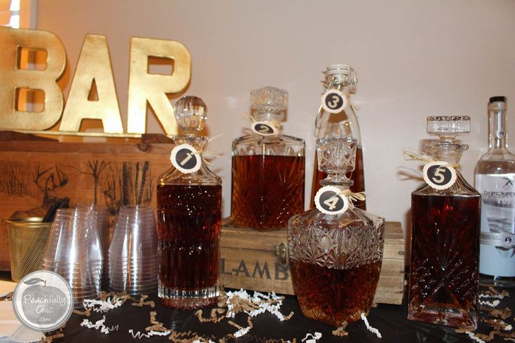 the ultimate manly themed party - guys birthday ideas - whiskey tasting