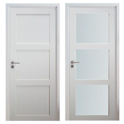 Znalezione obrazy dla zapytania drzwi wewnętrzne białe z ościeżnicą