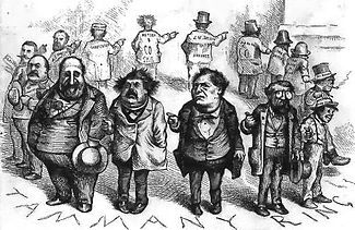 "Tammany Hall - Tammany Ring by Thomas Nast; ""Who stole the people's money?"" / ""'Twas him."""