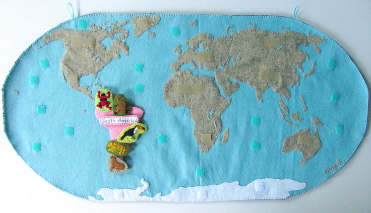 chome heart Animals of South America for the Montessori Wall Map amp Quietbook with Printables