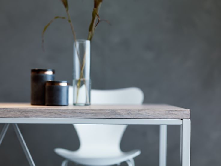 Detail of Graphic dining table by Nevian Furniture. Scandinavian design furniture manufactured to perfection!