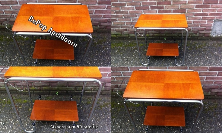 Jaren 50 art-deco Gispen tafeltje / 1950 Gispen tea table http://www.repop.nl/a-26644001/bijzet-theetafels-side-tea-tables/jaren-50-art-deco-gispen-tafeltje-1950-gispen-tea-table/