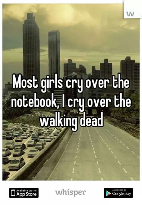 I'm not one to cry, but I do love TWD alot-rq