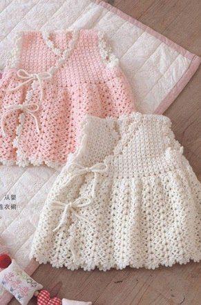 Delicadezas en crochet Gabriela: Bebé vestido de punto