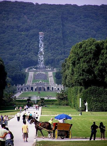 Parco visto dalla Reggia, Reggia di Caserta, Caserta – settembre