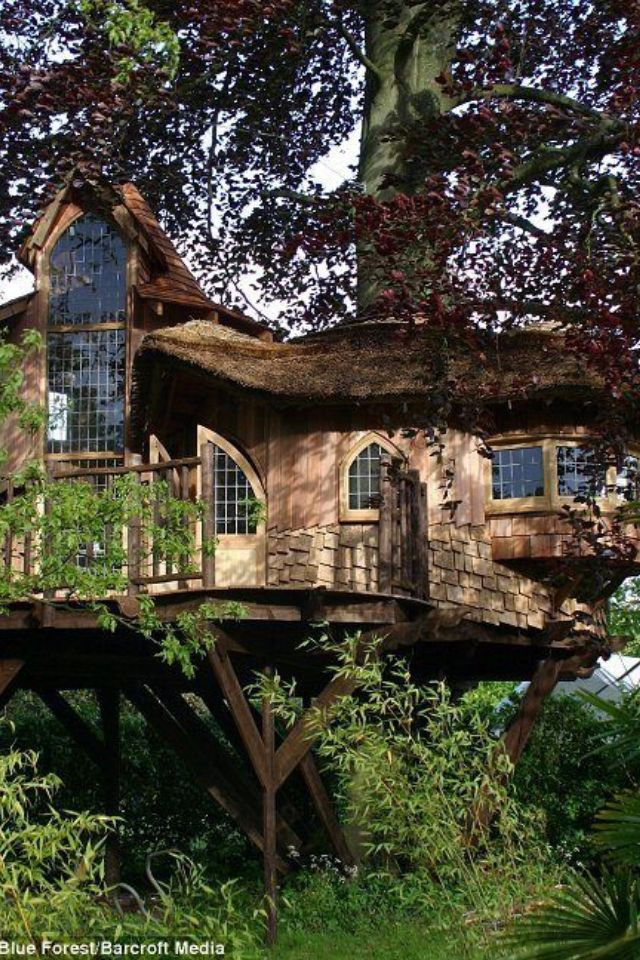 191 best Tree Houses images on Pinterest | Treehouses, The tree and  Treehouse ideas