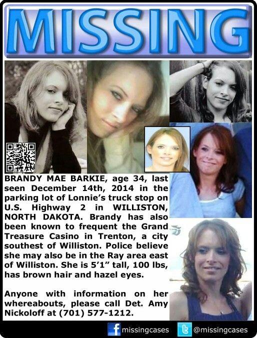 Missing,  North Dakota, casino, female,  ginger, redhead, December