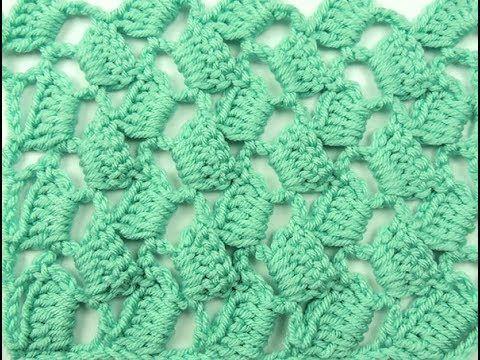 Crochet: Punto Escalera # 9 - YouTube