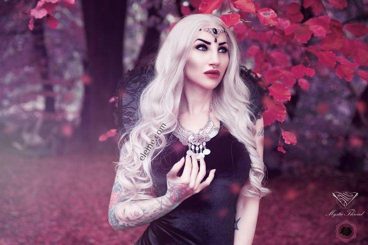 #Grey - #black #lace #gothic #victorian #vampire #costume #neck #collar #mysticthread - www.mysticthread.com , Singer/Model/Edit: #Eleine  /  Photo: #RikardEkberg