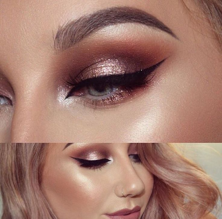 rustic shimmer look