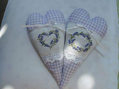 2 St. Dekoherz LKE. Lavendel,Duftkissen acufactum Borte, Fremme Garn  Sticken