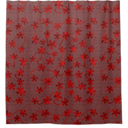 #Blobs and Bars Red Shower Curtain - #Bathroom #Accessories #home #living