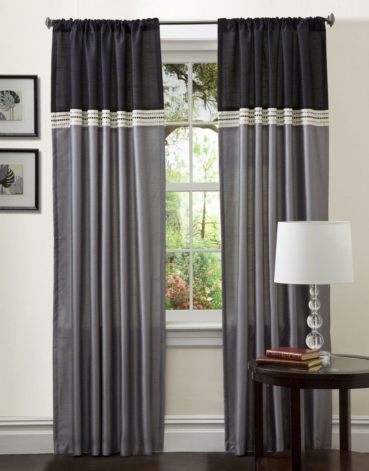 Creative Ways To Extend The Length Of Your Curtain Panels: Add Color Block  On Top