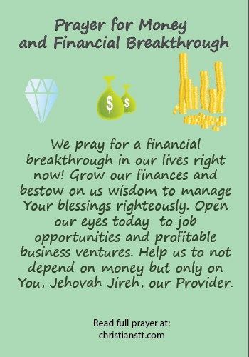Prayer for Money and Financial Breakthrough