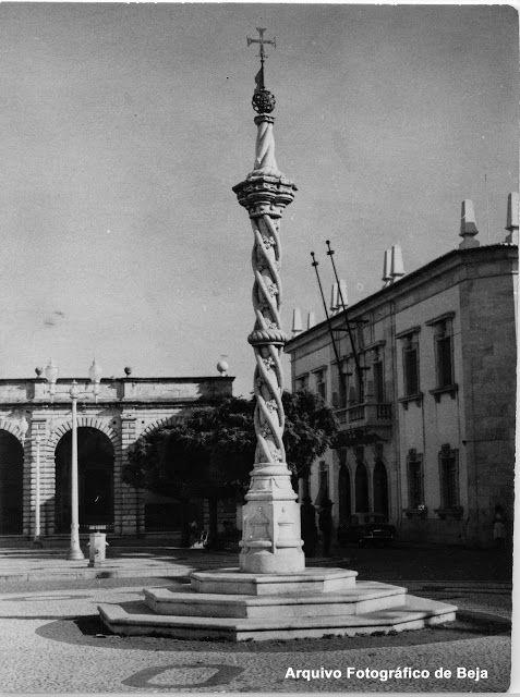 Praça da República de Beja - 1960 Pelourinho - Beja y Arrabaldes