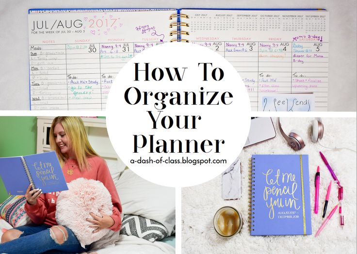 All the top tips on planner organization.  #agenda #planner #collegetips #organizing #organizingtips