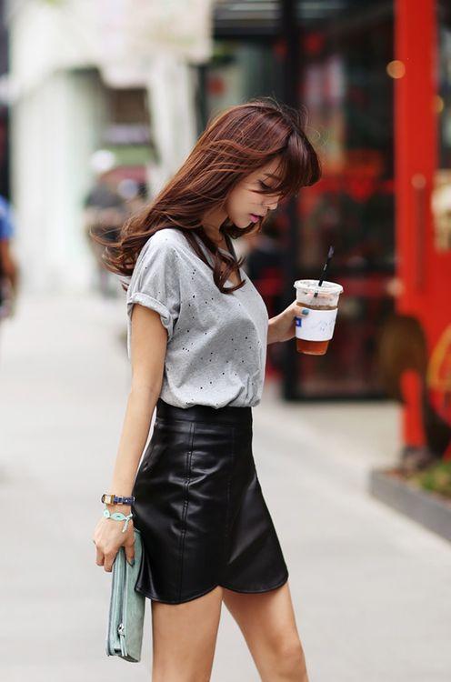 black leather skirt | It List