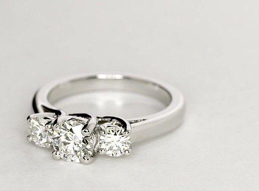 0.72 Carat Diamond Three-Stone Trellis Diamond Engagement Ring | Recently Purchased | Blue Nile