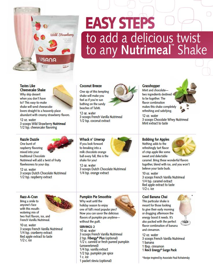 "Enjoy some ""specialty"" flavors to compliment your USANA Nutrimeal."