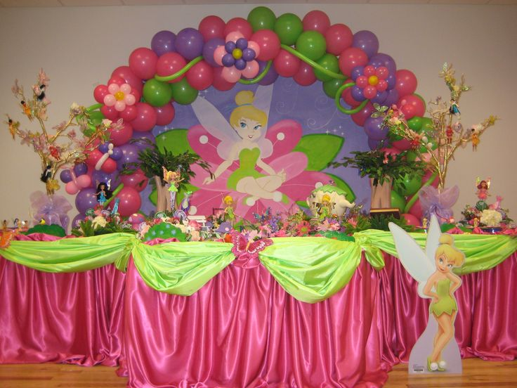 Tinkerbell balloon decorations party favors ideas for Balloon decoration ideas for 1st birthday