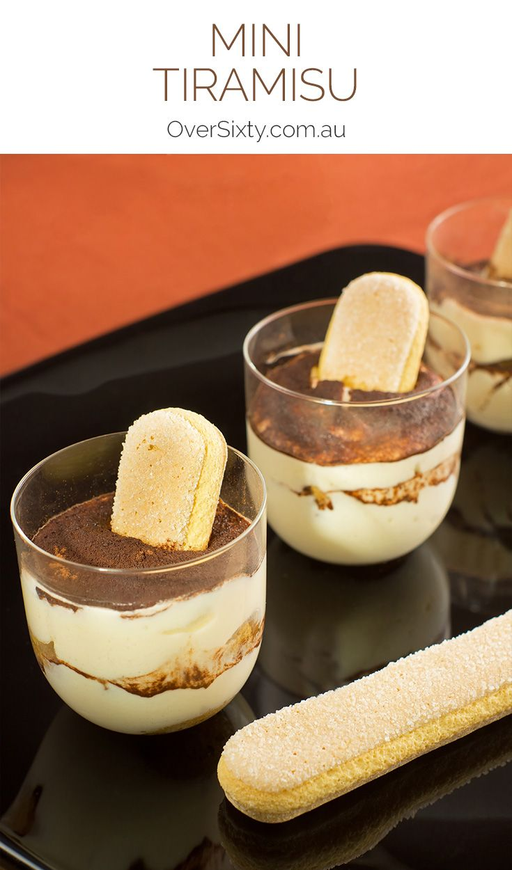 Individual Mini Tiramisu - make your own single serving mini tiramisu for an elegant dessert. These would look great in a margarita glass.