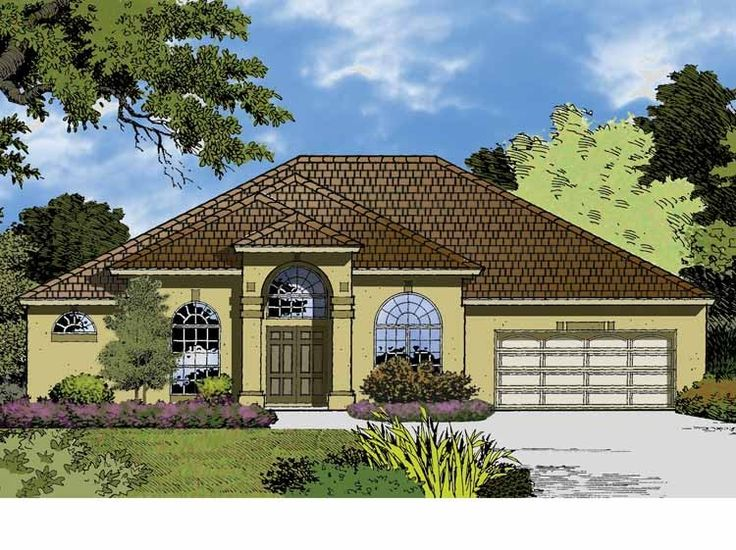 Eplans Mediterranean House Plan Majestic Ranch 2789