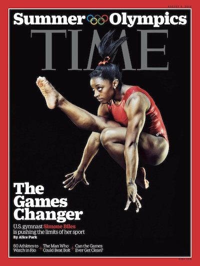 Gymnast Simone Biles is adding covering the pages of TIME magazine to her growing list of achievements on her road to the 2016 Rio Olympics.