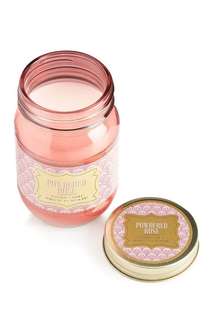 *PRIMARK || 'Powdered Rose' jar candle | Vela en tarro 'Powdered Rose'