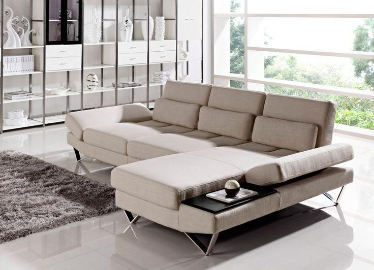 Divani Casa Yorba - Modern Fabric Sectional Sofa Set - Stylish Design Furniture