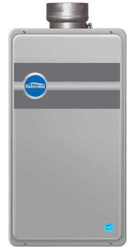 richmond encore tankless natural gas indoor direct vent 95 gpm at menards water