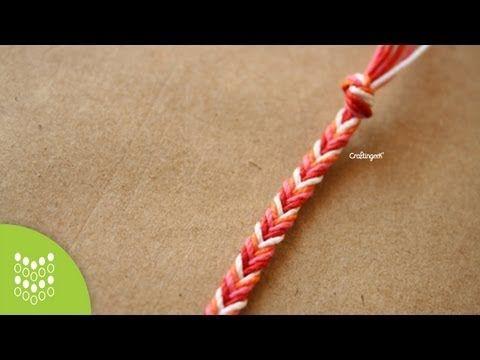 ▶ Pulsera Mazorca - Trenza con mas de 3 hilos [FACIL] - YouTube