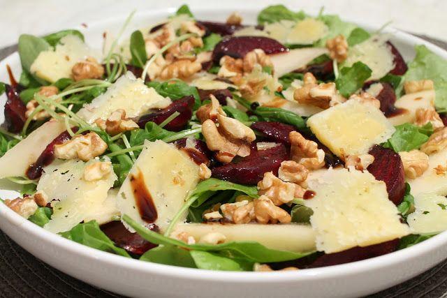 punajuuri-päärynä salaatti, beetroot-pear salad kotivalossa ...