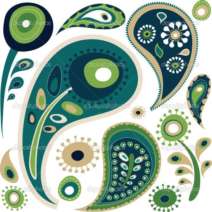 Retro paisley pattern — Stock Vector © marish #