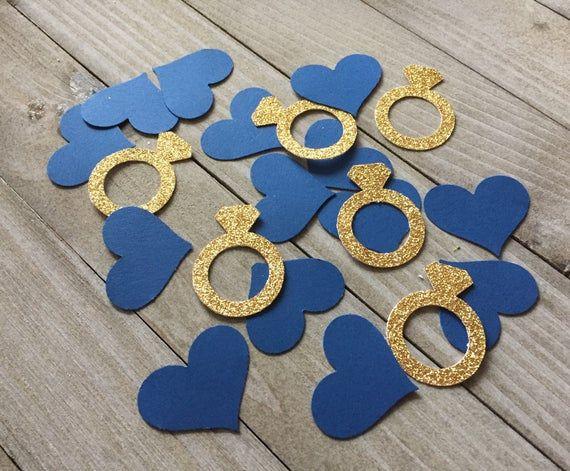 Bachelorette Party Bridal Shower Parties 100 piece Silver Ring Confetti,Weddings Engagement Party