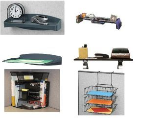 Maximize Cubicle Storage with a Variety of Cubicle Shelves | Cubicle Bliss | CubicleBliss.com | @CubicleBliss | If you are interested in upgrading your #cubicle storage and organization, this article will address the many different types of cubicle #shelves that you can add to your small office space. If you want to shape up your cubicle, this article will help you out!