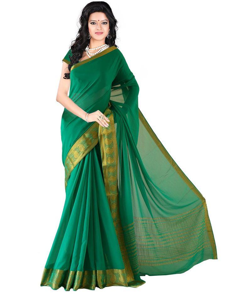 Roopkala Women Mysore Chiffon Silk Saree(DS-235,Green): Amazon : Clothing & Accessories  http://www.amazon.in/s/ref=as_li_ss_tl?_encoding=UTF8&camp=3626&creative=24822&field-keywords=mysore%20silk%20sarees&linkCode=ur2&tag=onlishopind05-21&url=node%3D1968256031  #Mysore #Silk #Sarees