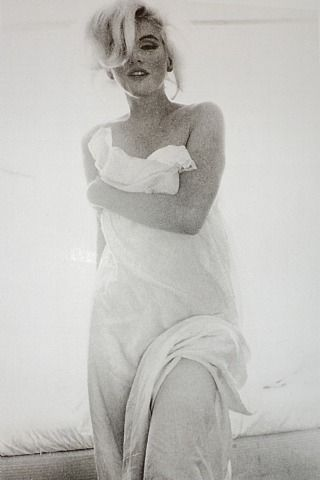 Marilyn Monroe Draped Portrait by Bert Stern