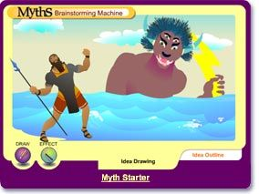 Myth Brainstorming Machine (Scholastic) - come up with ideas to write your own myth