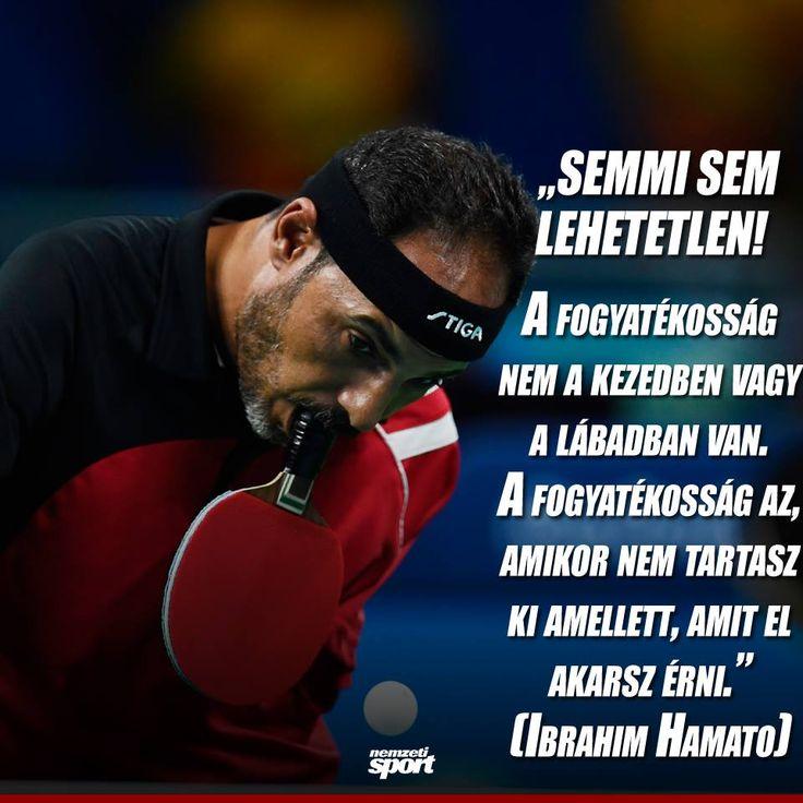 Ibrahim Hamato idézet a kitartásról. A kép forrása: Nemzeti Sport Online