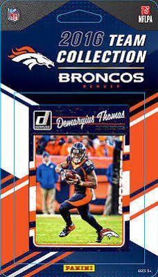 2016 Donruss Football Denver Broncos Team Set of 12 Cards in Factory Sealed Package: C.J. Anderson(#86), Demaryius Thomas(#87), Emmanuel Sanders(#88), Von Miller(#89), DeMarcus Ware(#90), Brandon Marshall(#91), John Elway(#92), Chris Harris(#93), Aqib Talib(#94), Adam Gotsis(#301), Devontae Booker(#366), Paxton Lynch(#390)