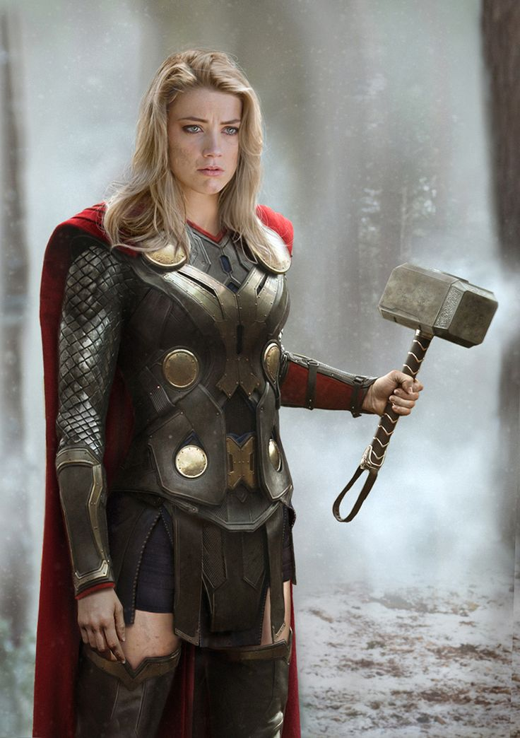 If Women Ruled the Earth-Age of Ultron Edition: Amber Heard as Thora
