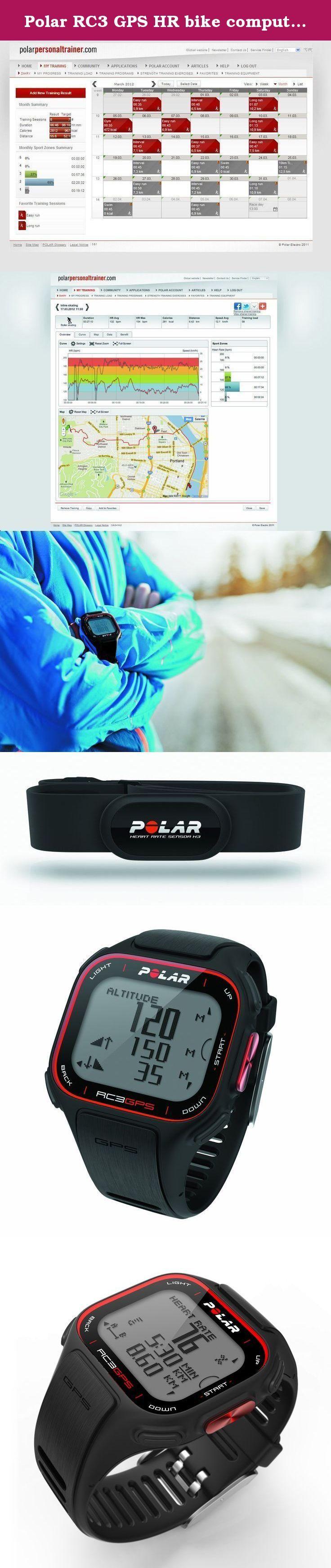 Polar RC3 GPS HR bike computer wireless mit Herzfrequenz-Sensor black. - Brand: Polar Clock - Gender: Unisex - rubber strap, black color - black box colored polycarbonate - black Dial Color - Machinery: Quartz - Functions: Digital - Waterproof: 50 mtrs - Box Dimensions: 44 X mlm 40 mlm - Incl.