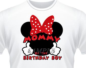 Mickey Mouse Iron On Transfer Mom Of Birthday Boy Party Favors Shirt Clubhouse